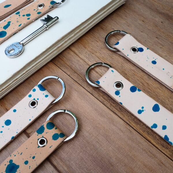 Leather Keyring by Jane de Bono