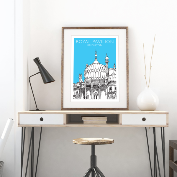 Continuous line illustration of the Royal Pavilion in Brighton