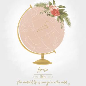 Personalised Globe Prints, Amy Olivia Harris Design