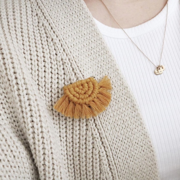 The Scout's Den Macrame Pin Badge
