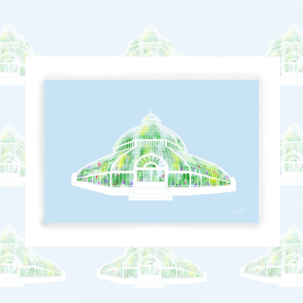 Alison Butler Art, The Palm House Sefton Park Art Print, Digital Painting of The Palm House Liverpool