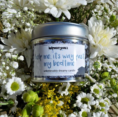 Helpmeorganics Bedtime Soy Wax Candle with irganic Essential Oils