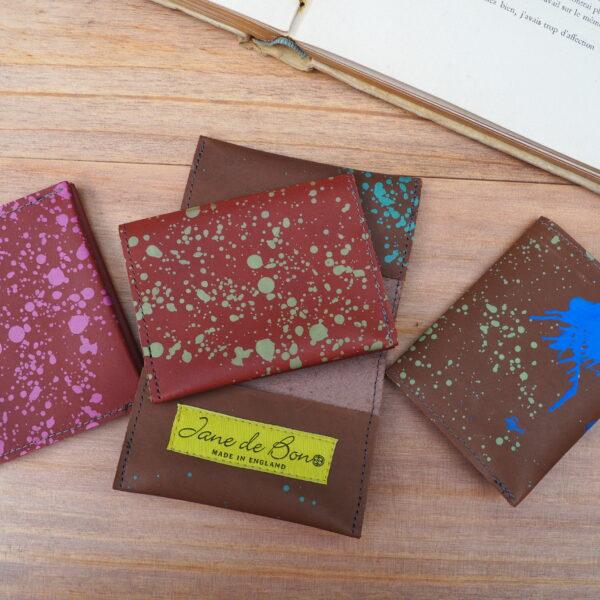 Leather Card Holder by Jane de Bono Designs