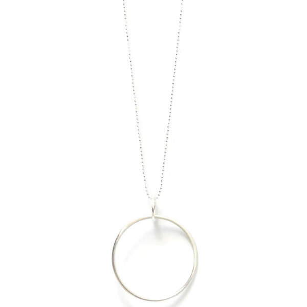 Sunburst Circles Necklace in Silver Design Vaults