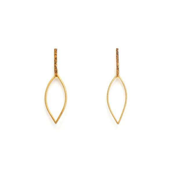 Sunburst Teardrop Earrings Gold Design Vaults