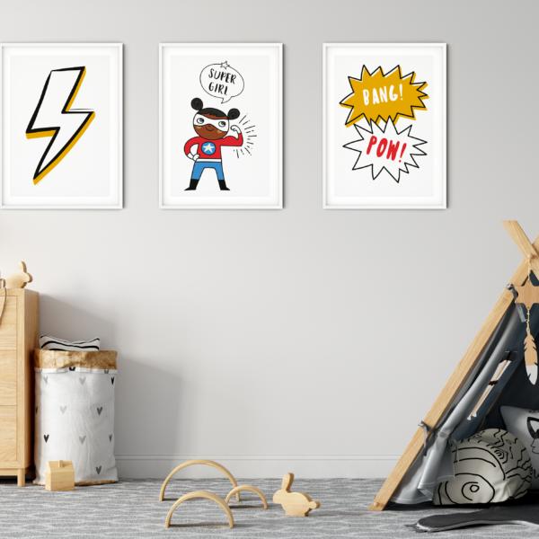 Personalised Superhero Prints
