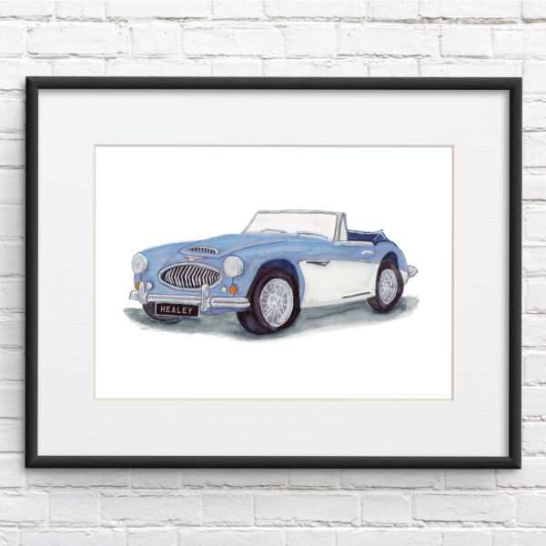 Austin-Healey Car Illustration Print