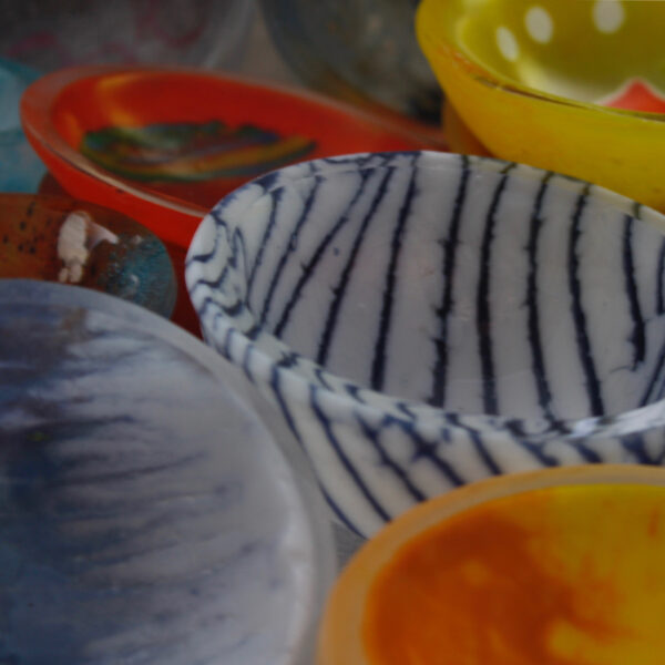 bazaar of bowls by Bridget Marchi glass