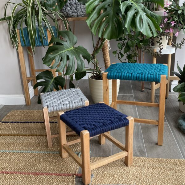Woven Felted Wool Stools, Perch Upholstery