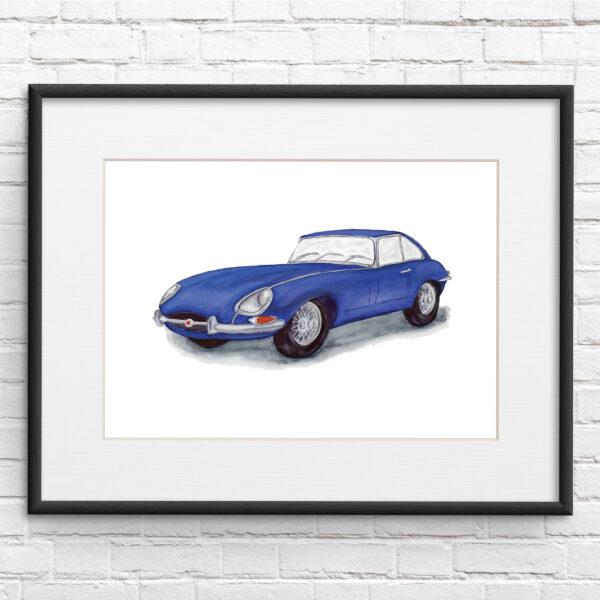 Jaguar F-Type Car Illustration Print