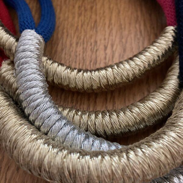 metallic cord necklaces