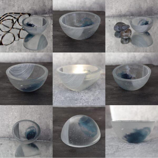 seaglass trinket bowl 1 by Bridget Marchi glass
