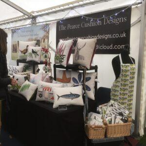 Elliepearcecushiondesigns Craft fair stall