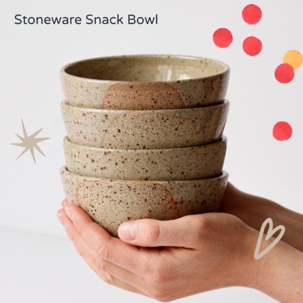 Unnaaty, Stoneware Snack Bowls
