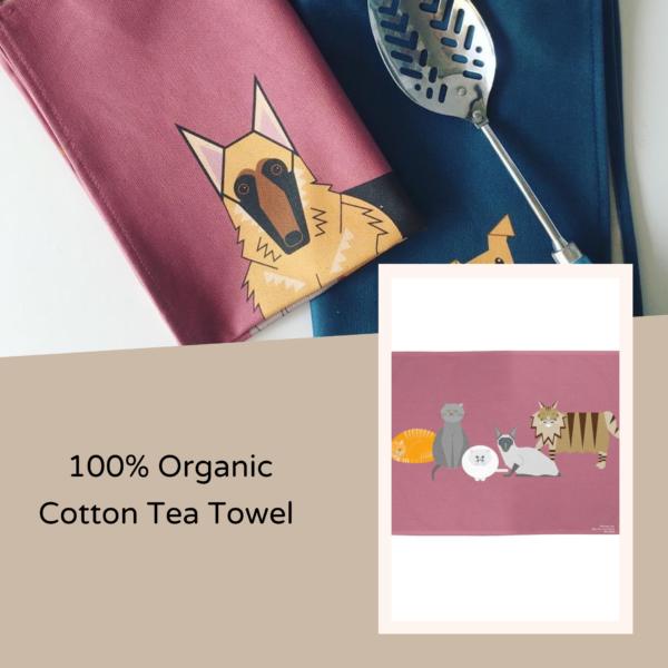 Unnaaty, 100% Organic Cotton Tea Towel