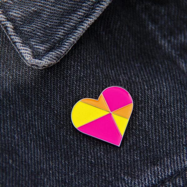 Abby Sumner Design, Colourful Heart Enamel Pin Badge