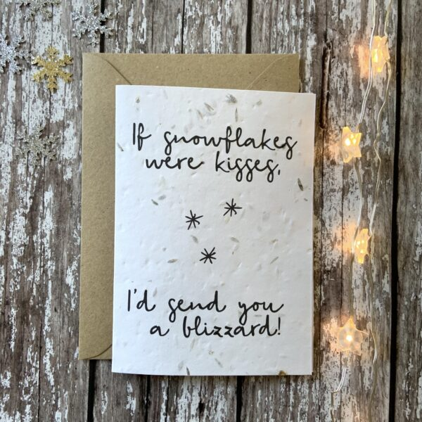 Eco friendly seed Christmas card