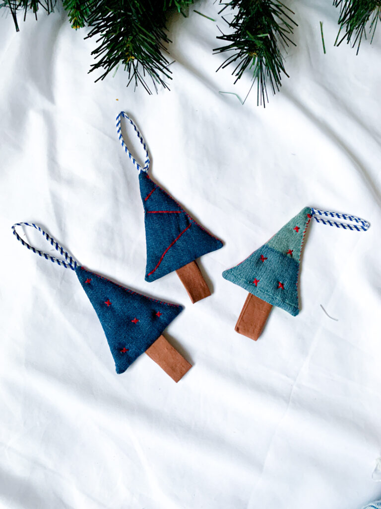 Wild Strings by Eleanor, tree shaped Christmas baubles
