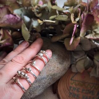 the pine in the valley recycled silver pebble ring