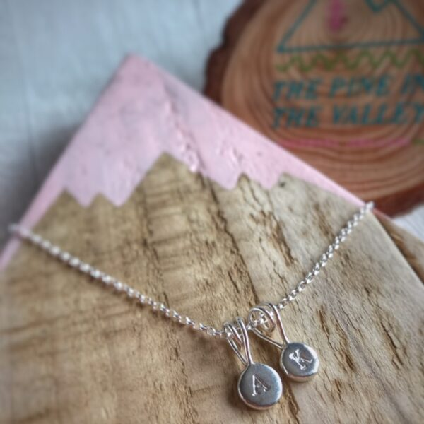 the pine in the valley recycled silver pebble pendant