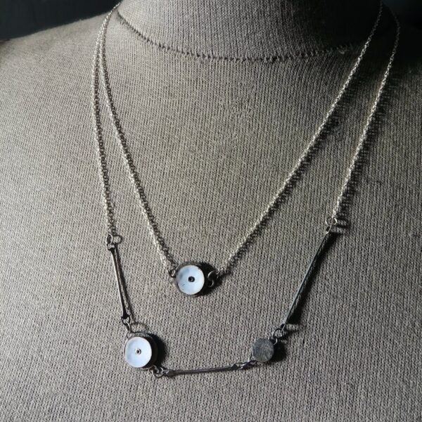 Emma Taylor Jewellery - Silver and Copper Torch Fired Enamel Necklaces