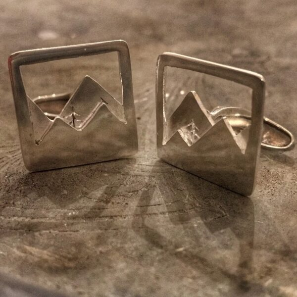 the pine in the valley silver cufflinks