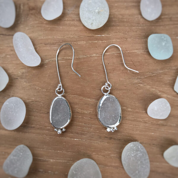 the pine in the valley sea glass earrings