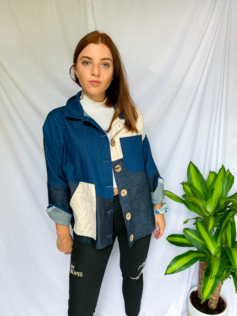 Wild Strings by Eleanor, panelled denim jacket with pockets