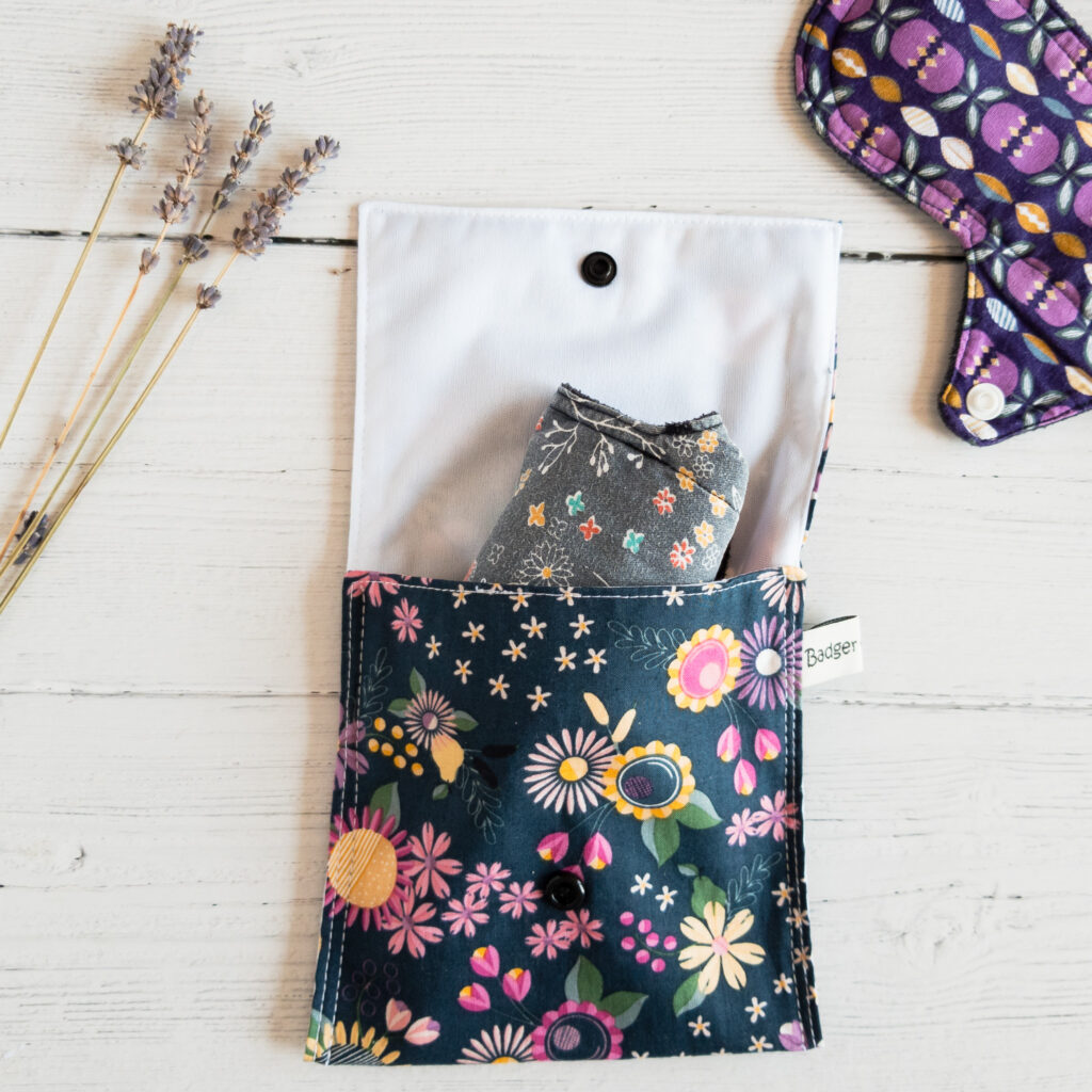 Badger and Bobbins Small Wet Bag for Menstrual Products