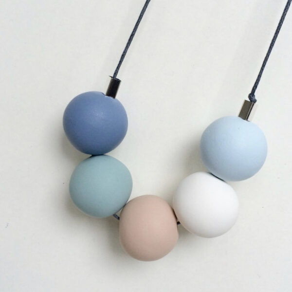 Pastel Blues Sweetie Necklace