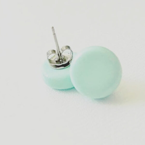 Pastel Mint Green Dottie Studs