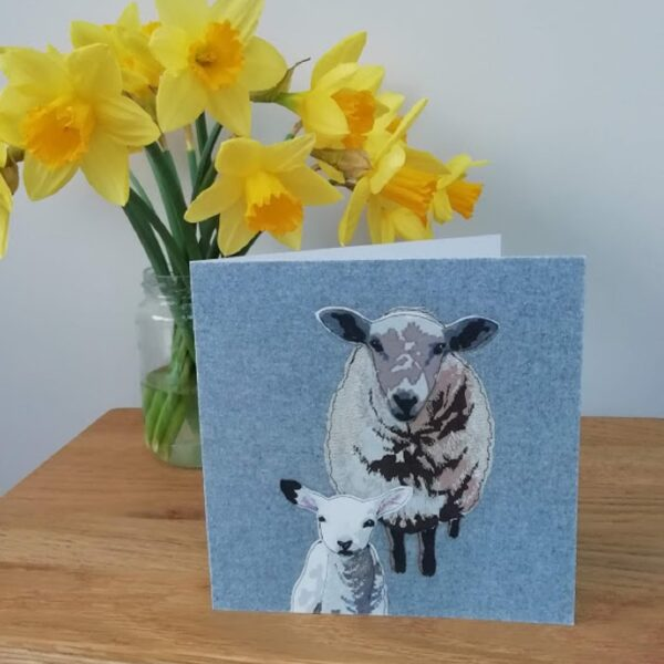 Lellibelle, sheep and lamb greetings card, Mother's day, spring, new baby