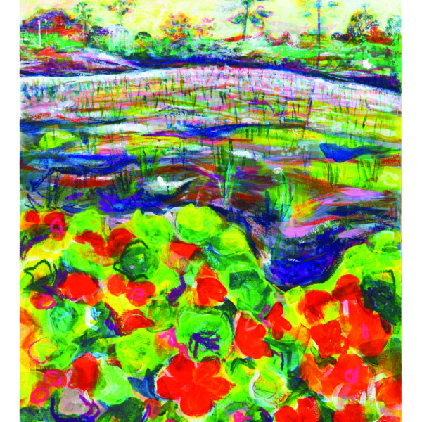 A fine art Giclée print- Summer Farm