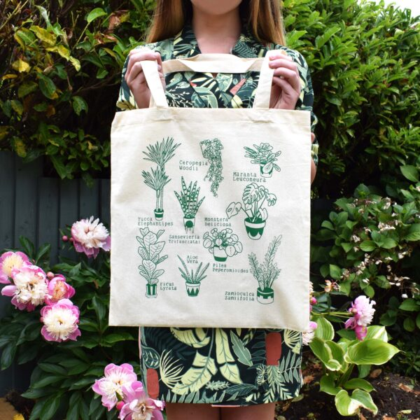 Screen Printed Cotton Tote Bag, Illustrated by Aimee