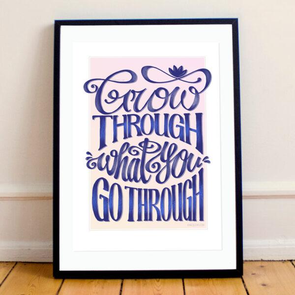 MarcoLooks, Grow Through What You Go Through Print