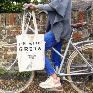 Unnaaty, I am with Greta Tote Bag