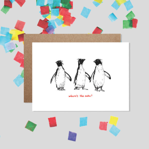 Bamber Prints Where's The Cake? Funny Animal Birthday Card Pedddle