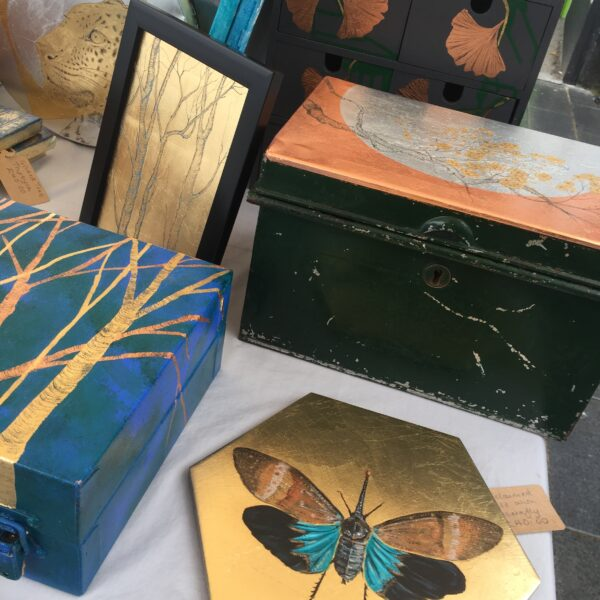 artisan market, colwyn bay, upcycled art