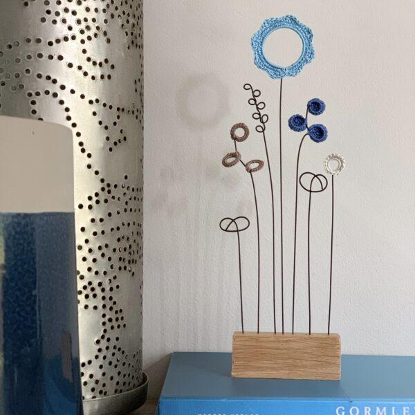 Sakarma Handmade Letterbox Flowers Blue Hues