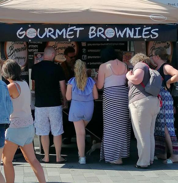 artisan market, colwyn bay, gourmet brownies