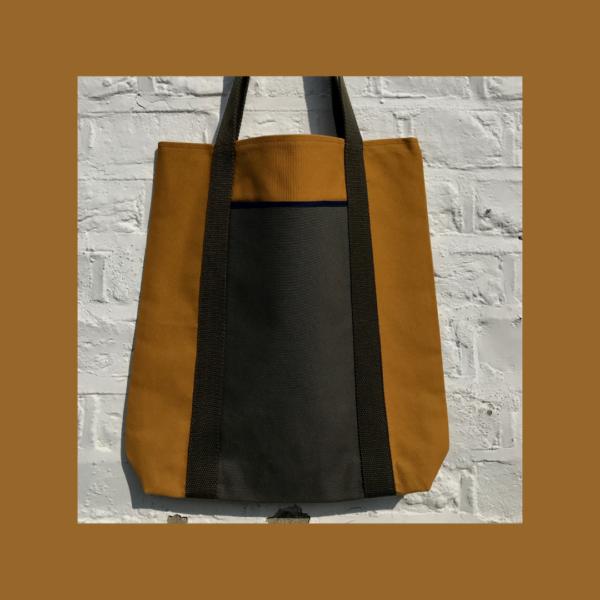 Shopper. Tote bag. Autumnal tones.