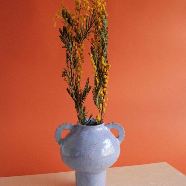 Victoria Ceramics, handmade stoneware purple vase