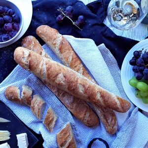 The Epsom Bakehouse baguettes from online baguette making class