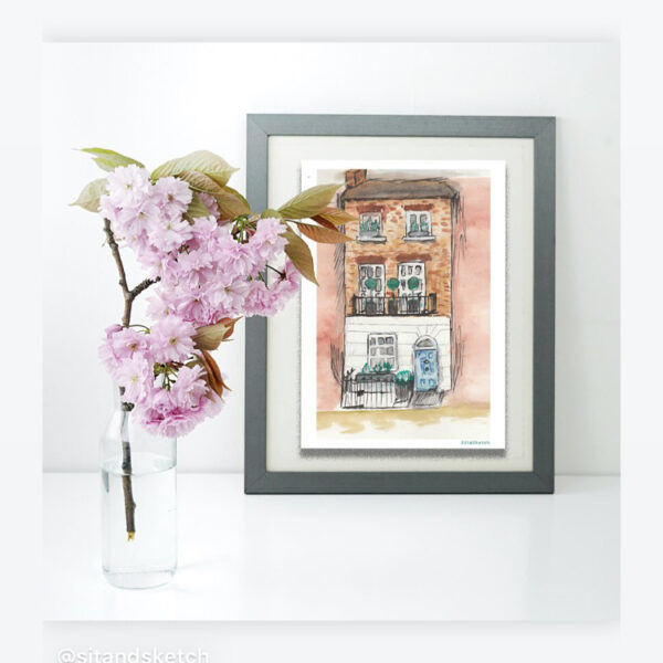 Home illustration, home portrait, personalised home drawing