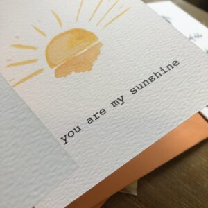 Sit & Sketch, You are my sunshine Eco Card