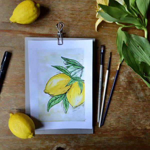 A4 Prints A6 Prints A5 Prints Lemons Art Illustration When life gives you lemons Eco Art
