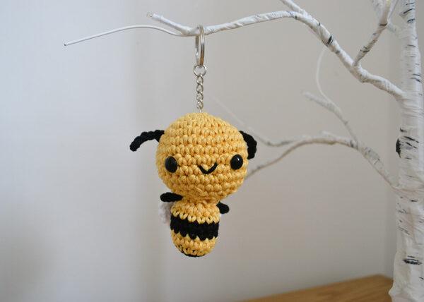 Little Smidge of Happiness, Crochet honey bee keyring