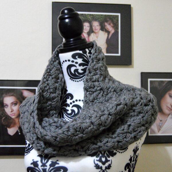 504 Krafts by K, Dust Cowl in grey yarn