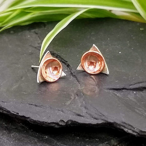 Inari Designs by Anna - Silver & Copper Earrings