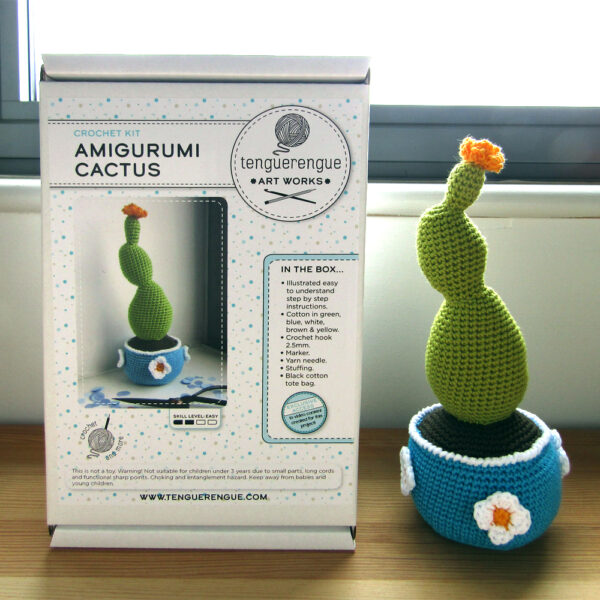 Crochet kit to make a cactus